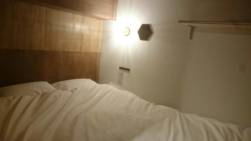 下北沢Hostelのドミトリー。ダブルサイズ